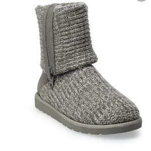 Grey Sweater Boots Women's size 9